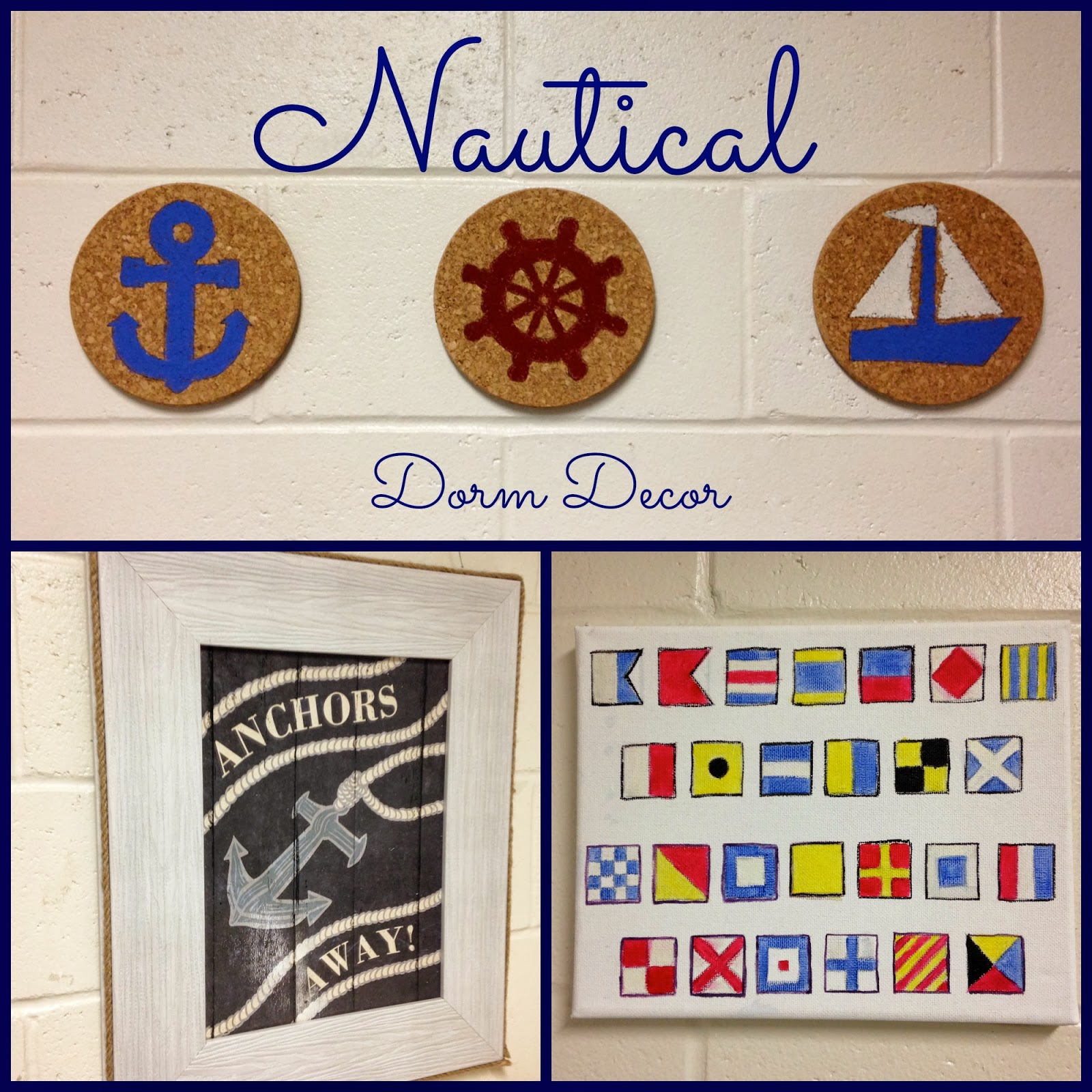 Nautical Dorm Decor Tutorials