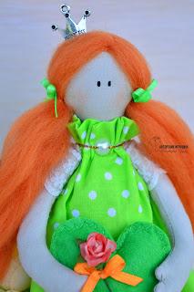 кукла тильда, ангел тильда, ангел тильда в розовом, кукла ручной работы, ангел тильда с рыжими  волосами, кукла на заказ киев, кукла тильда купить киев