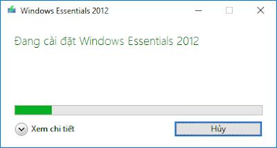 Cài đặt windows live mail 2012 - H03