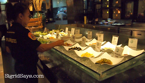 L'Fisher Hotel salad bar