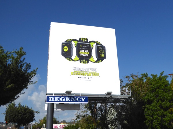 Apple Watch perfect running partner billboard