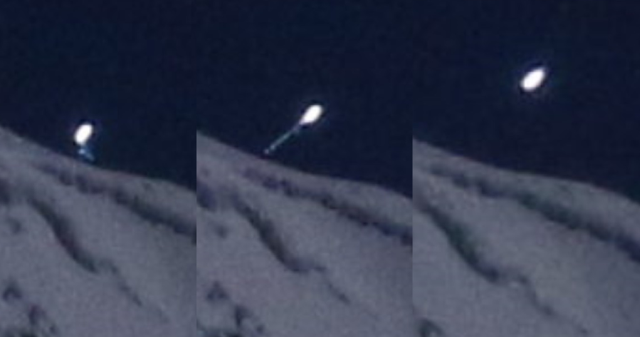 Bright UFO takes off from Mt. Shasta, California