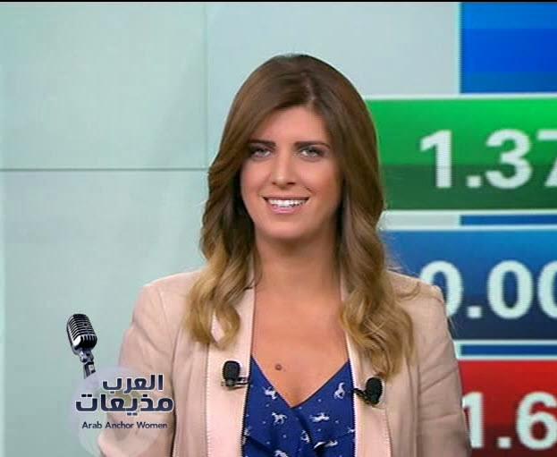 Arab Spicy News Anchor Women Lara Habib Chamat Sexy News -9614