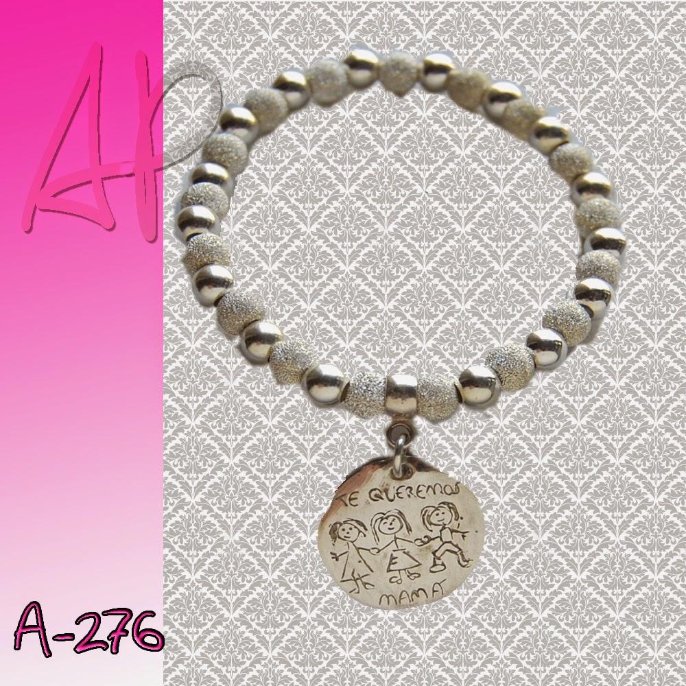 974973d921c7 A-276 Pulsera plata personalizada para mamá