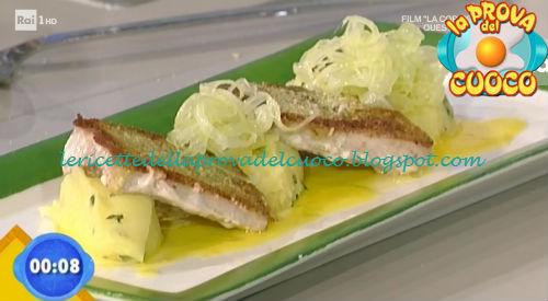 Tombarello con peperoni e purea di nepitella ricetta Rossi da Prova del Cuoco