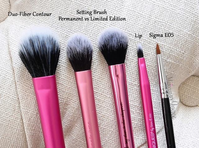 Real Techniques Dup-Fiber Contour Brush vs Setting Brush Comparison Review Limited Edition