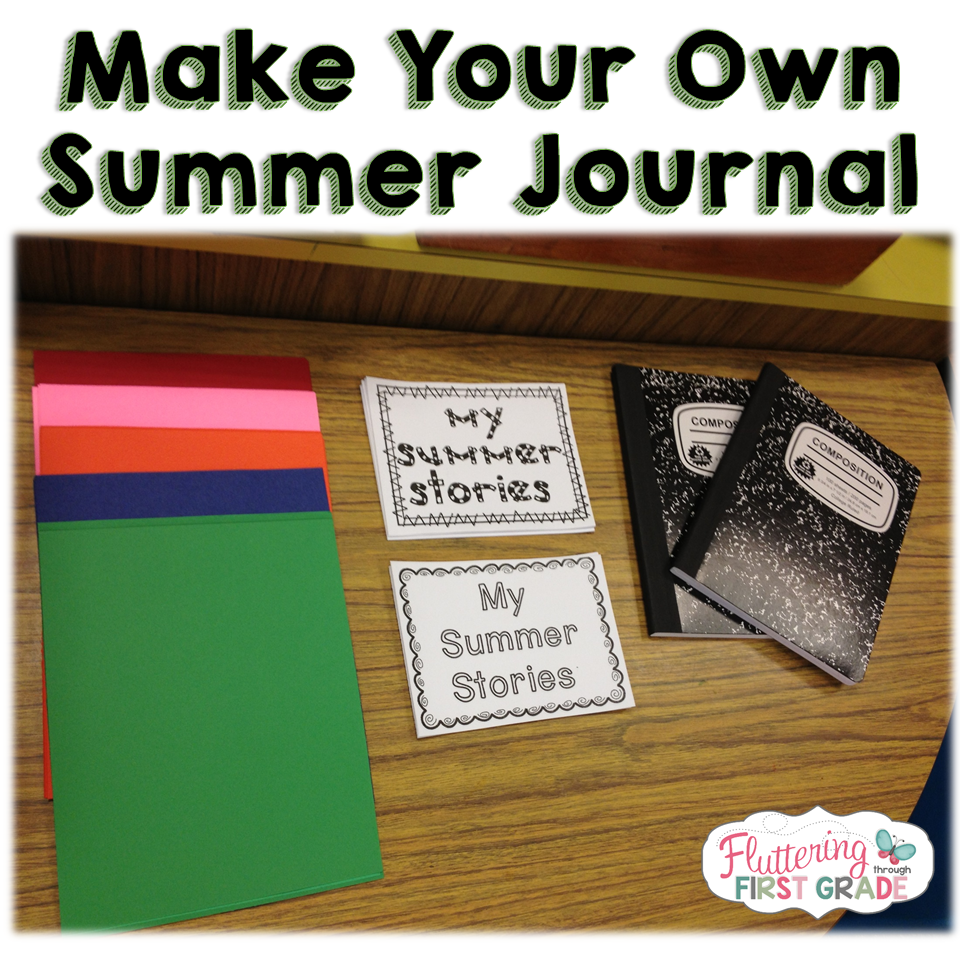Summer journal DIY tutorial for kids