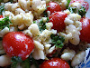 Cannellini Bean and Grape Tomato Salad with Lemon Dressing and Rosemary-Garlic Infused Olive Oil