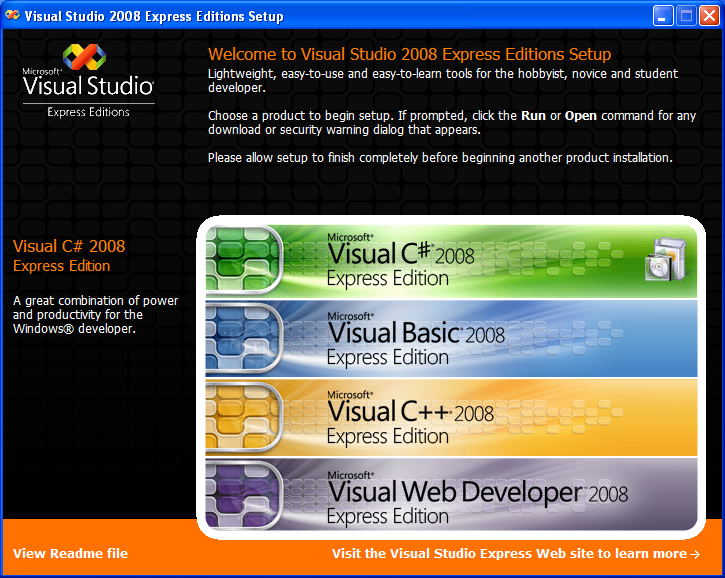 Download Visual Studio 2008 Express Full version ( 32bit & 64bit )