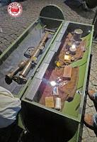 Reproducción de cápsulas de ayuda aérea, Museo de la Insurrección de Varsovia