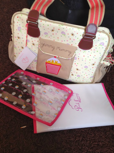 pink lining yummy mummy changing bag