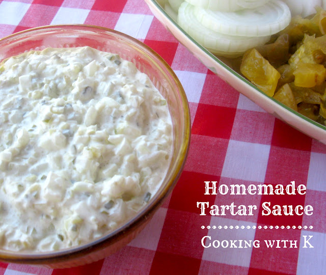 Cooking with K: Homemade Tartar Sauce Is Sure To Compliment Southern Fried Catfish {Granny's Recipe}