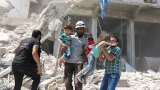 Kolaborasi Serangan Syiah Suriah dan Komunis Rusia Bunuh 25 Wanita dan Anak-anak Aleppo