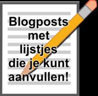 Blogposts met lijstjes
