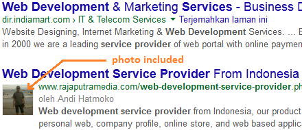 cara menampilkan foto di pencarian google