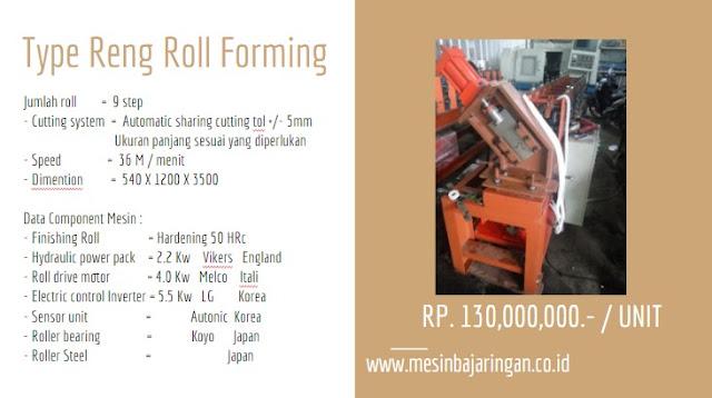 JUAL MESIN BAJA RINGAN roll forming