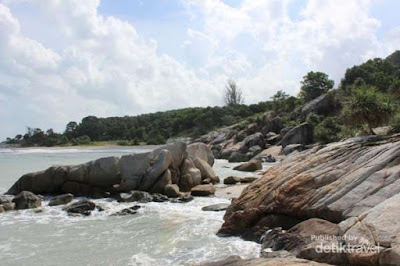 pantai tikus bangka belitung