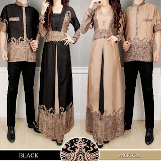 Cp Batik Couple Warna Mocca Modis Hajatan