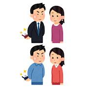 プロポーズしようとしている人のイラスト