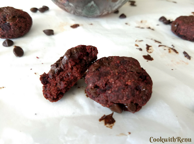 Beet Root and Oats Cookies
