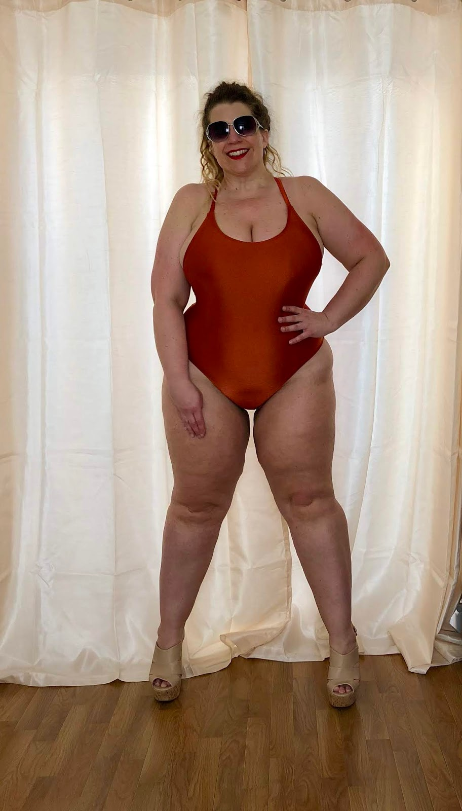 Forever 21+ Crisscross Rust Swimsuit