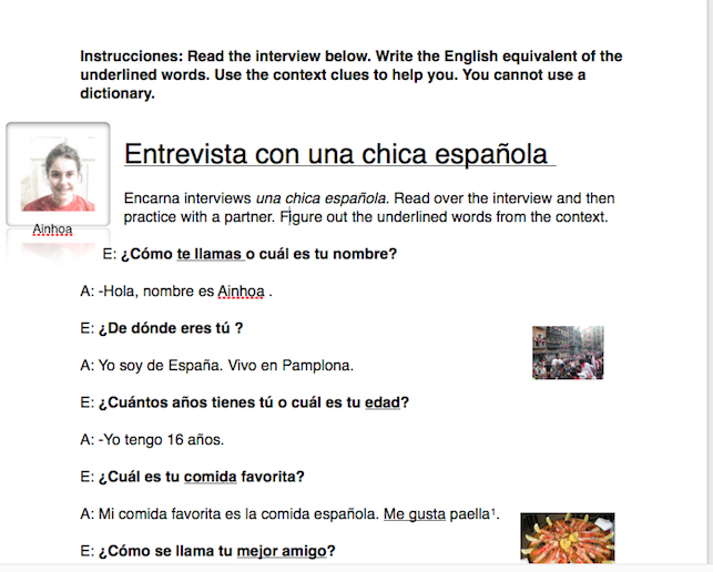 Teaching Spanish Made Easy : Increasing communication in the