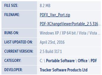 Portable PDF-XChange Viewer