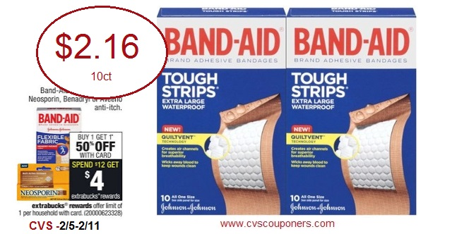 CVS Couponers: *HOT* Band-Aid Tough-Strips Waterproof