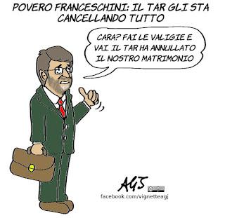 franceschini, parco del colosseo, TAR, sentenze, ricorsi, vignetta, satira