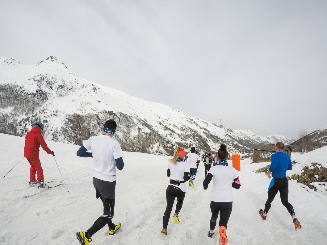 course sur neige
