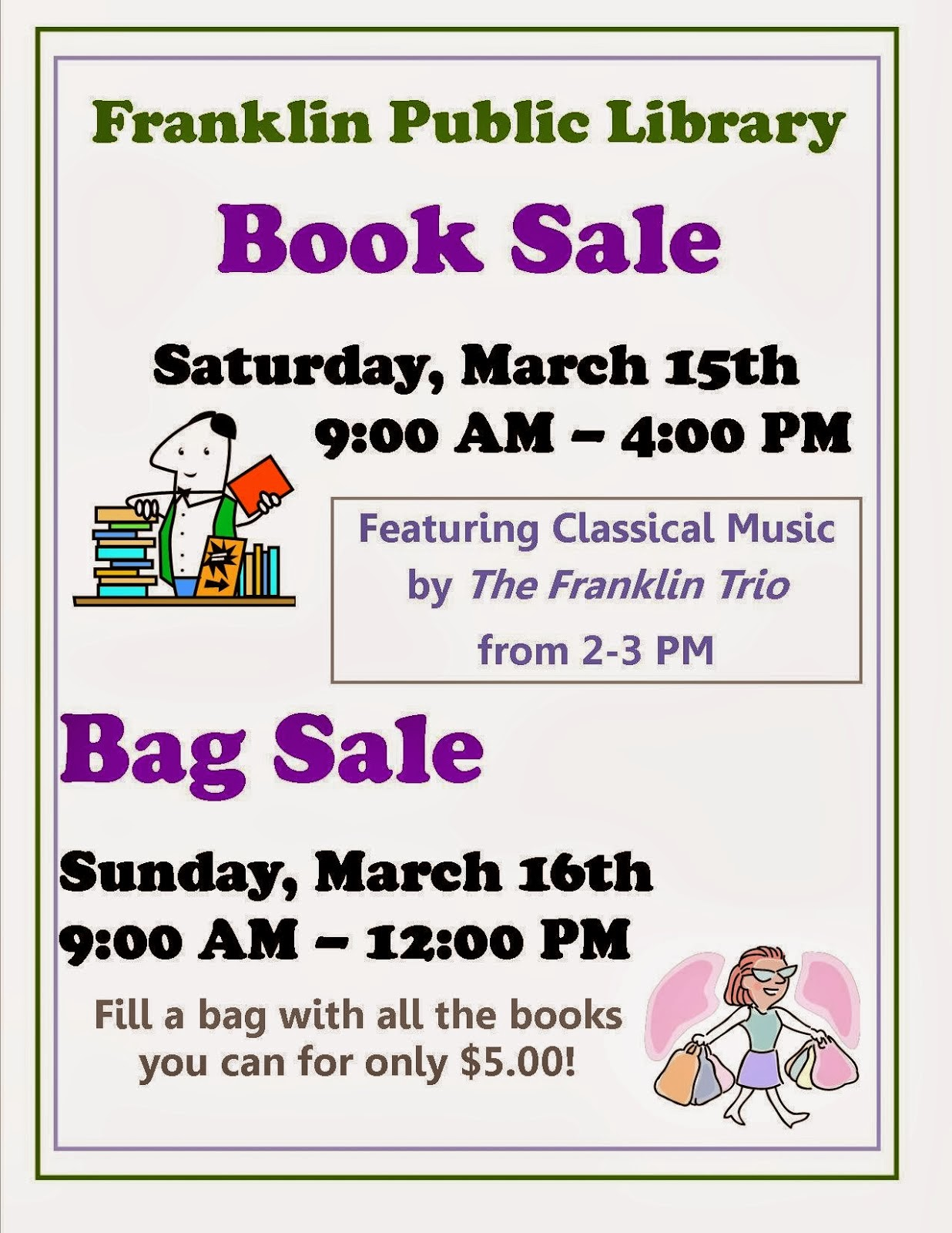 Franklin Library - Book and Bag sale