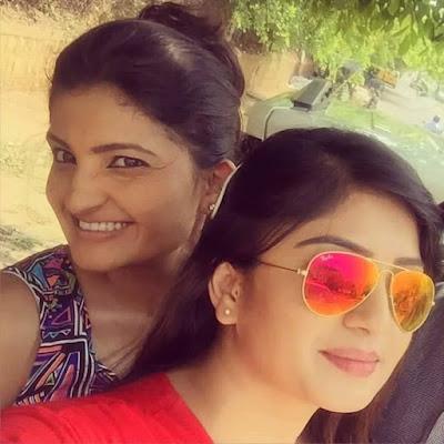 Karunya Ram with Sister