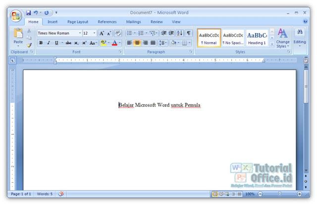 Menulis Microsoft Word