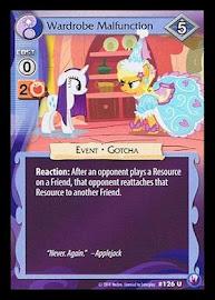 My Little Pony Wardrobe Malfunction Canterlot Nights CCG Card