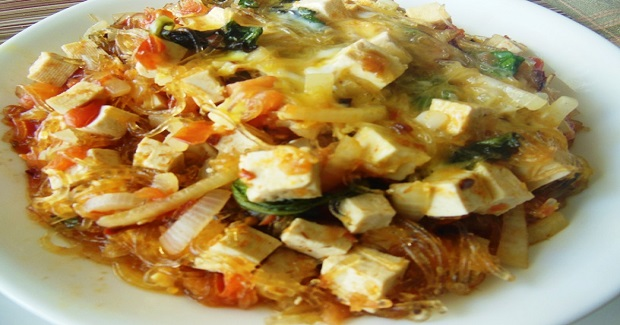 Egg-Topped Glass Noodles Soup Recipe