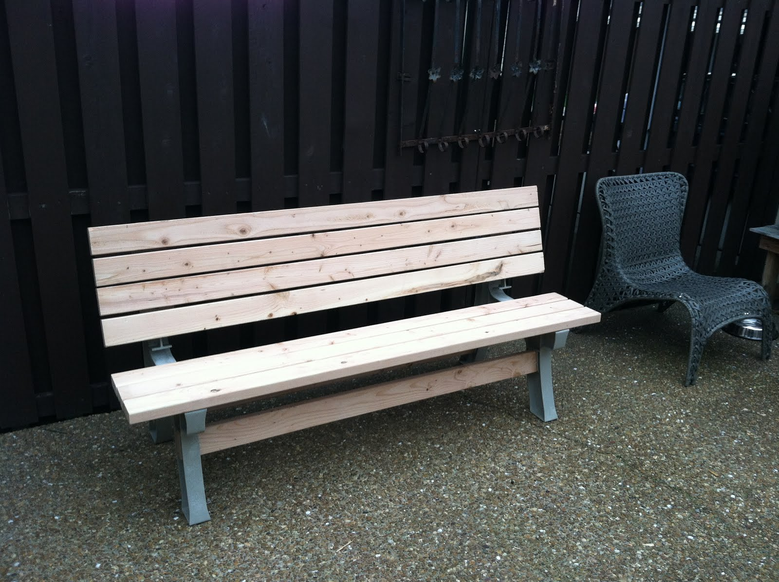 Bench with Tilt Back in Upright Position