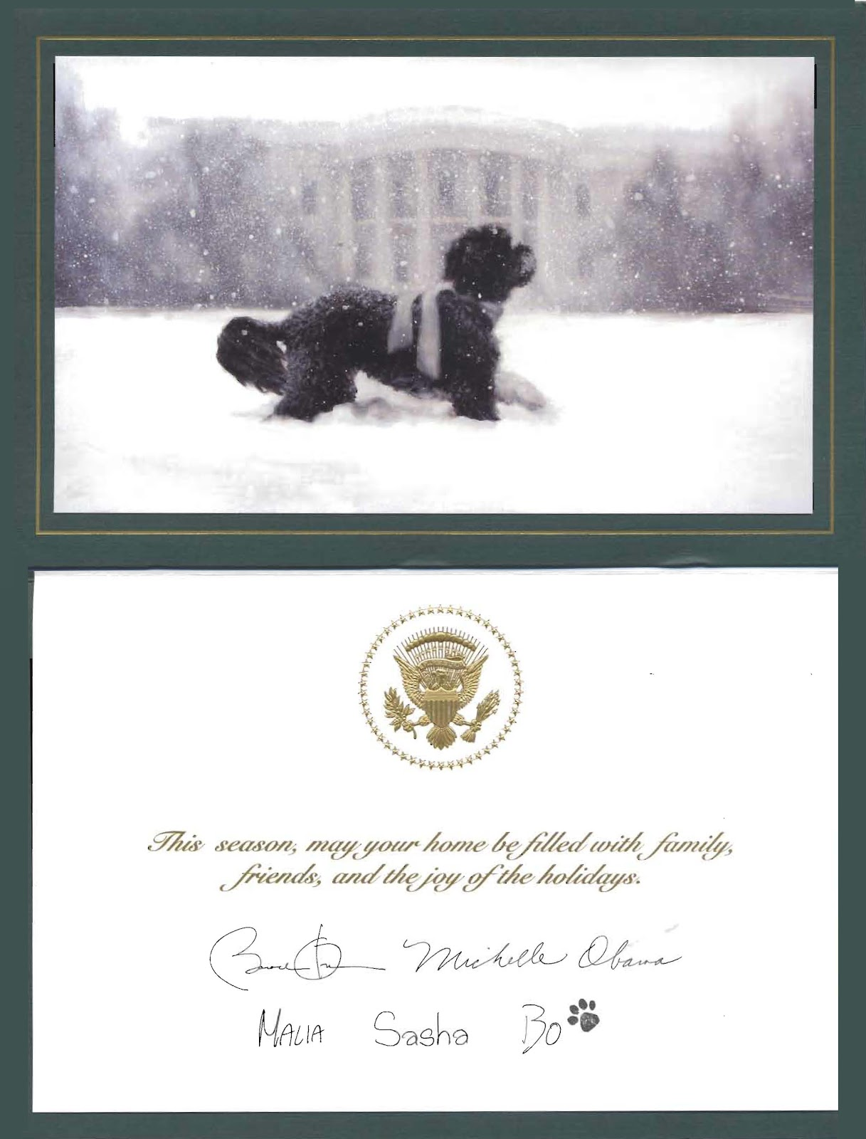 Obama holiday card