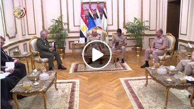لقاء وزير الدفاع برئيس اللجنة العسكرية الأوروبية