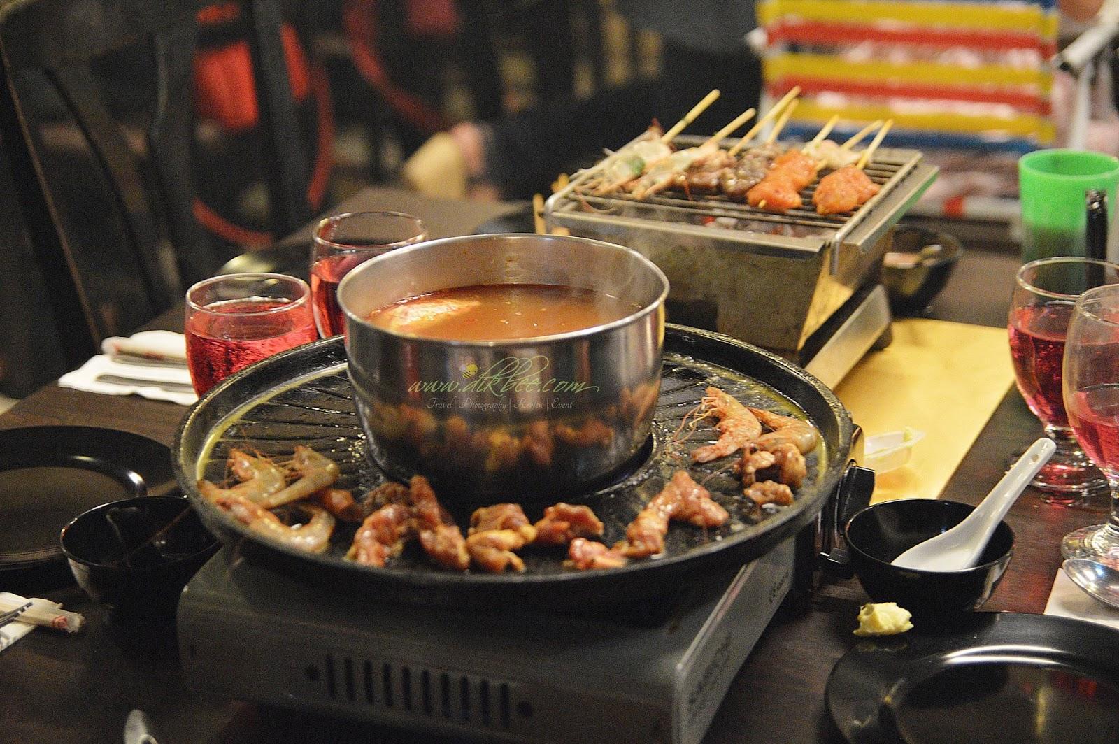 Konsep 3 Dalam 1 Steamboat Grill Pembakar Arang Bbq