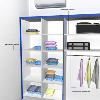 Desain Interior Kamar - Almari Pakaian Besar 6 Pintu Glossy Mengkilat