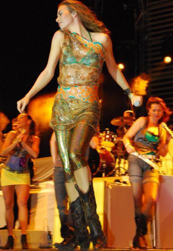 Foto de Sasha en el escenario
