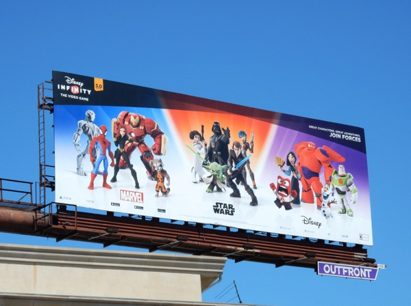 Disney Infinity 3.0 video game billboard