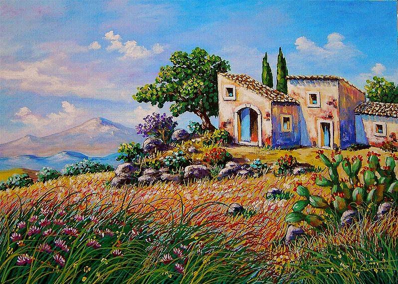 Professione Donna Schemi per il punto croce Paesaggio_2