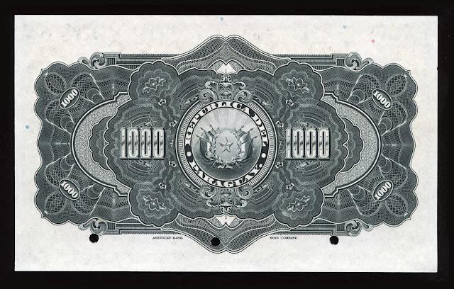 Billetes Paraguay mil Pesos