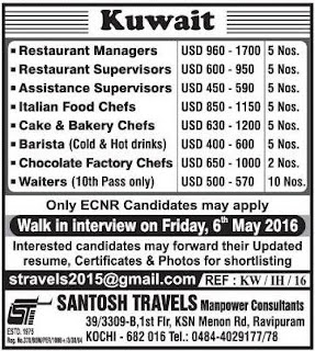 Restaurant jobs in Kuwait