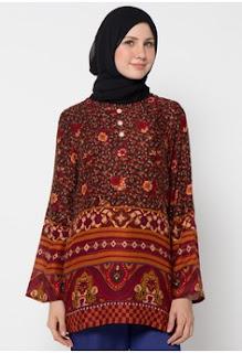 Baju Batik Wanita Kombinasi