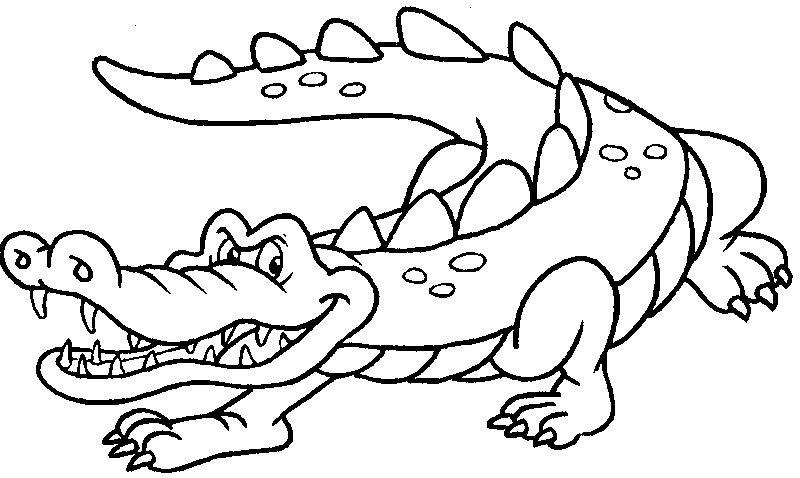 Tranh tô màu con cá sấu cho bé 5 tuổi