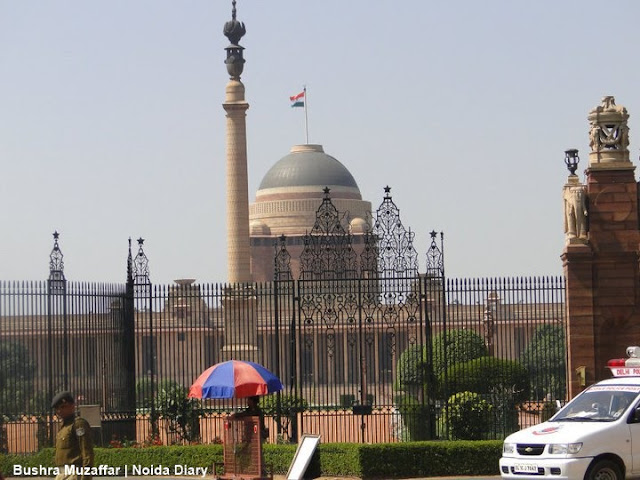 Closer View from Outside of Rashtrapati Bhavan, New Delhi