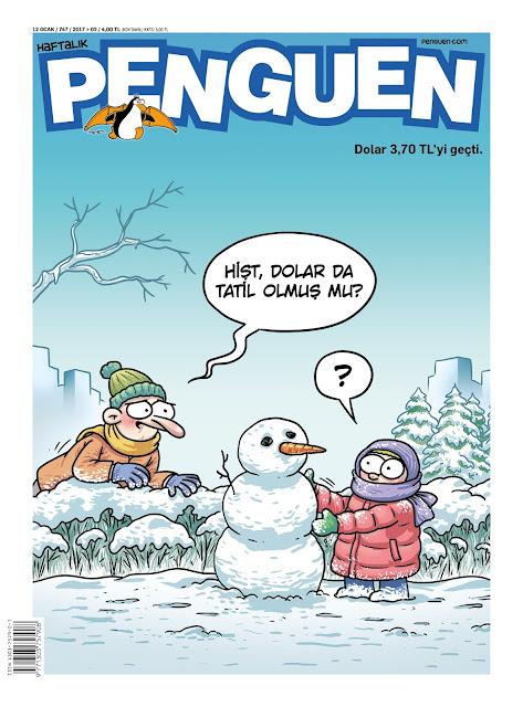 Penguen Dergisi   12 Ocak 2017 Kapak Resmi