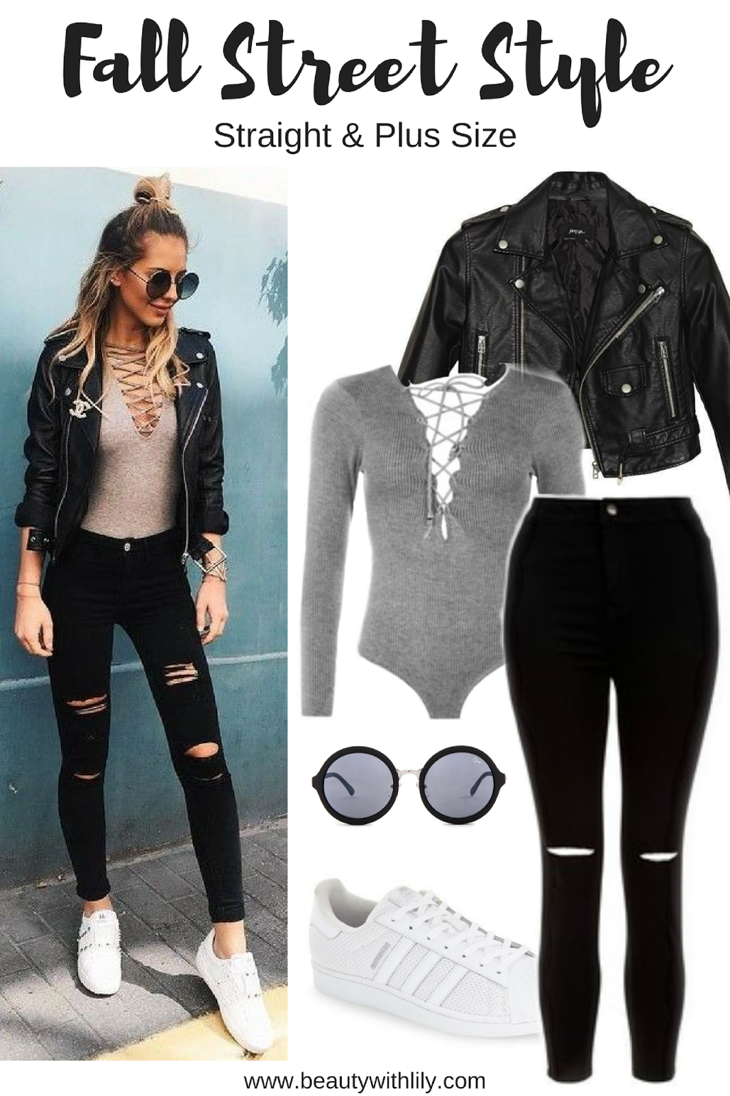 Affordable Fall Street Style Outfit   Trendy, edgy and casual outfit that will look great on anyone!